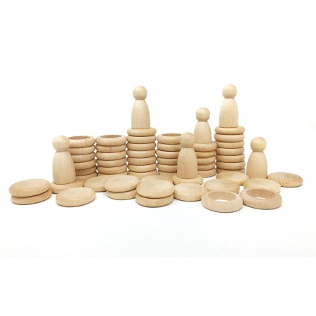 Wooden toys - Nins natural wood