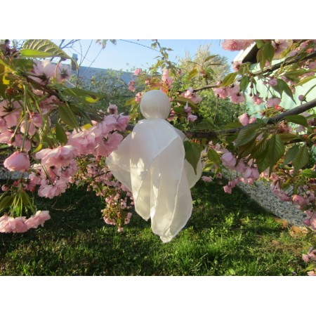 Silk doll for baby (white)