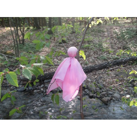 Silk doll for baby (pink)