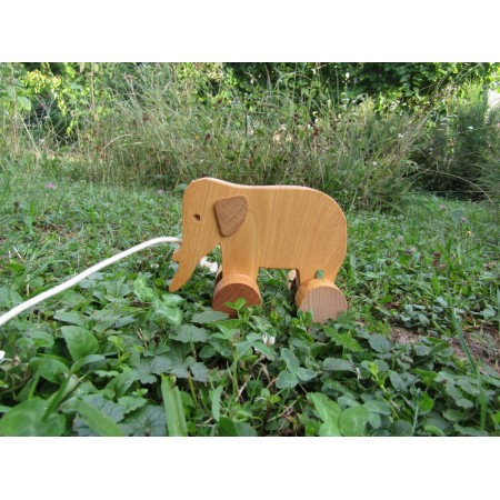 Wooden toys for pulling - elephant