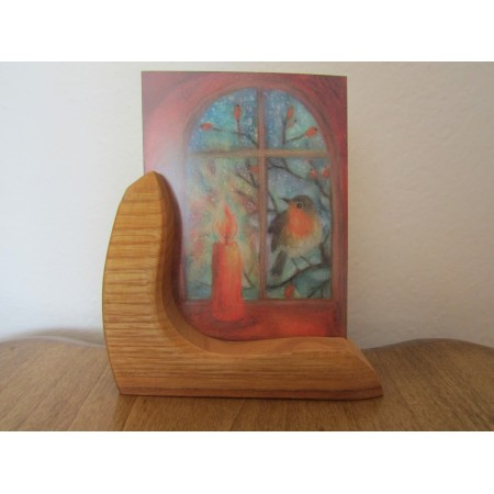 Wooden postcard holder
