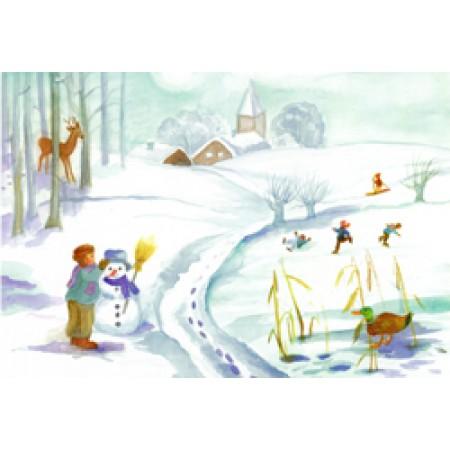 Postcard - Through the seasons - Winter
