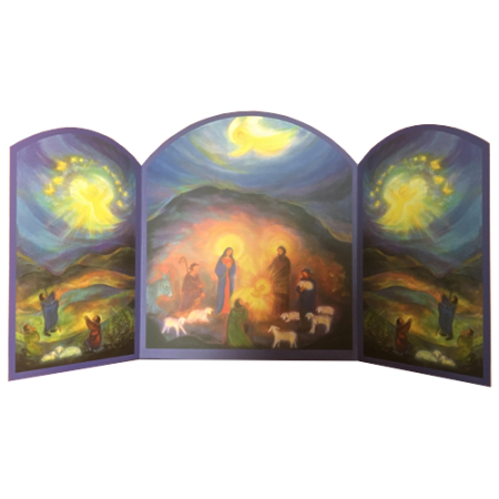 Triptych- Holy family with shepherds