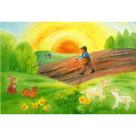 Postcard - Through the seasons - Spring, Easter